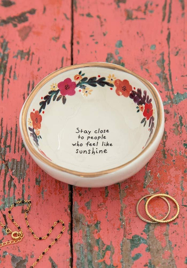 Giving Trinket Bowl Stay Close to People who Feel Like Sunshine 182