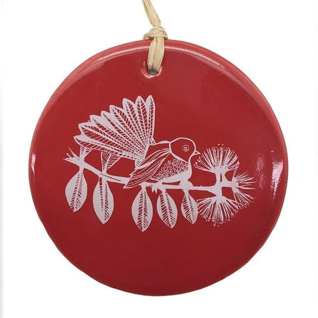Jo Luping Fantail Circle Decoration Red XJLCC
