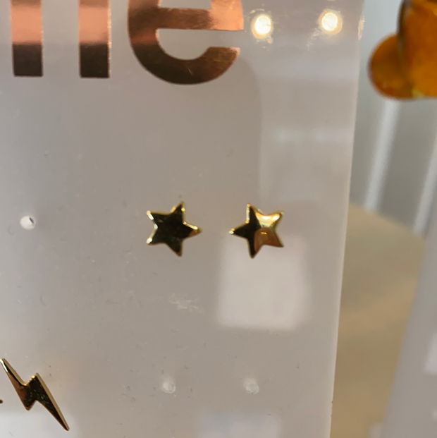 Some Sterling Silver Gold Plated Star Stud Earrings 196