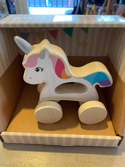 Wooden Unicorn Car