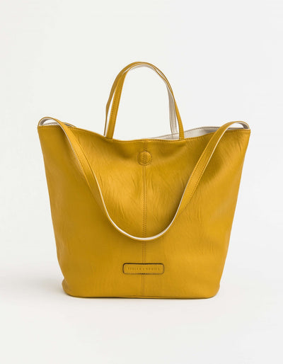 Stella and Gemma Sloane Reversible Tote Bag Mustard/Nude 1253