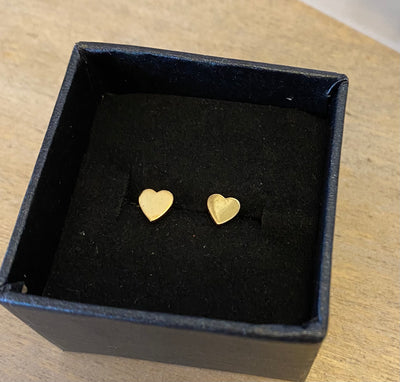 Some Sterling Silver Gold Plated Heart Stud 149