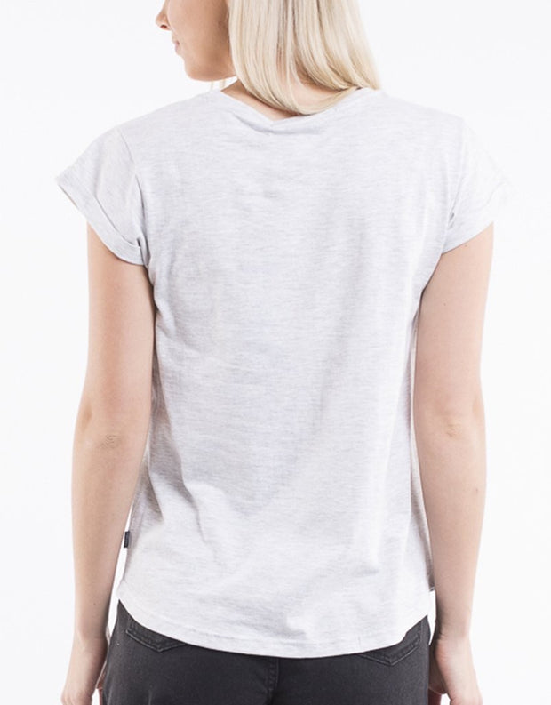 Silent Theory Lucy Tee in Grey Marle