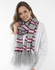 Elm Candy Scarf in Grey Marle