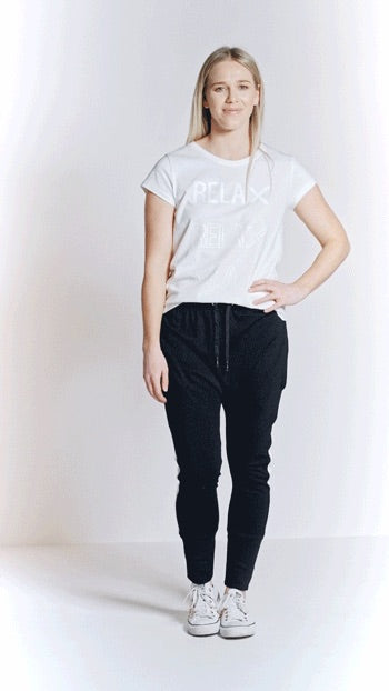 Home-Lee Relaxer Pant in Black (tee weight)