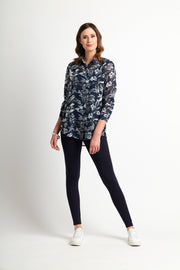 Memo Origami Back Shirt in Shaded Floral TP12169