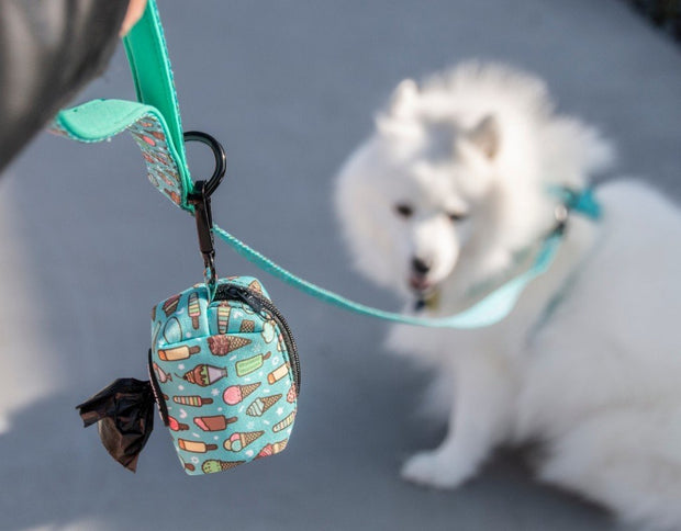 Healthy Dog & Co Dog poop bag holders - Minty Ice design