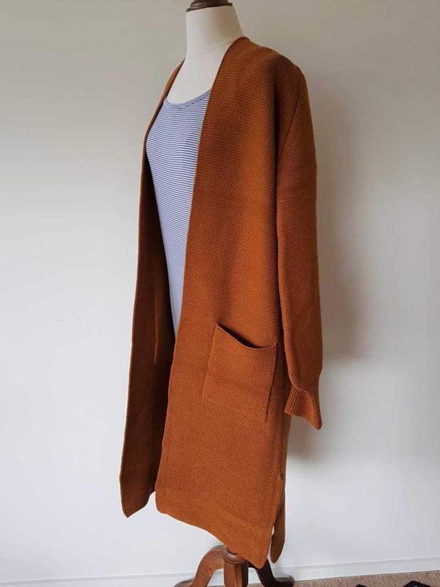 Hello Friday The Longliner Cardi in Spice