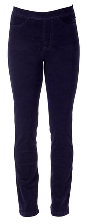 Vassalli Navy Slim Leg Pull on Cord Pant 234M