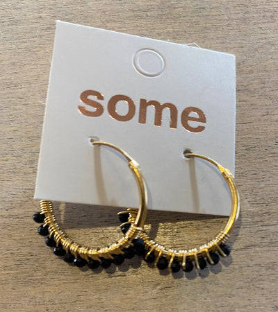 Some Sterling Silver Gold Plated and Onyx Hoop Earrings 100