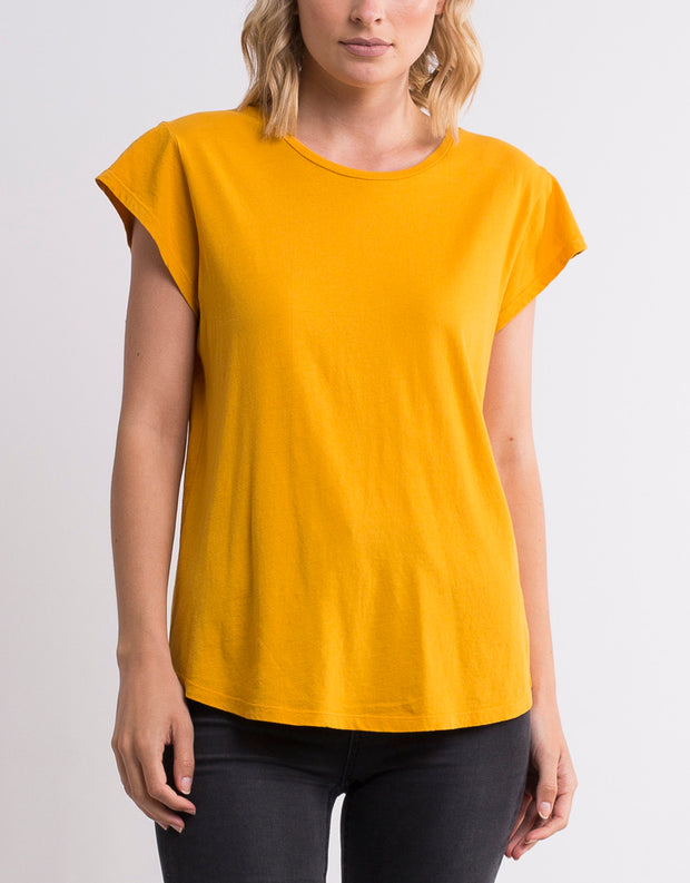 Silent Theory Lucy Tee in Yellow