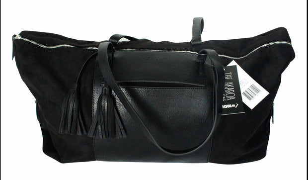 Moana Road Akaroa Overnight Bag in Black 4010