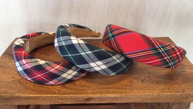 Archer House Tartan Alice Headband 06