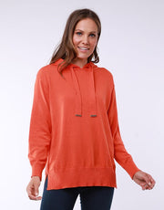Elm Emma Knit Hoody in Orange