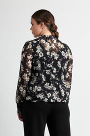 Memo Floral Spot Blouse with Pintuck Front TP12203