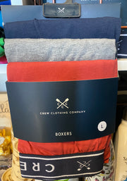Crew Clothing Company 3 Back Jersey Boxer Navy/Grey/Red 208