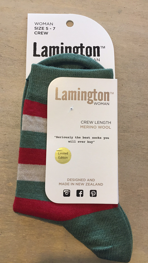 Lamington Women's Christmas Crew Socks Elf