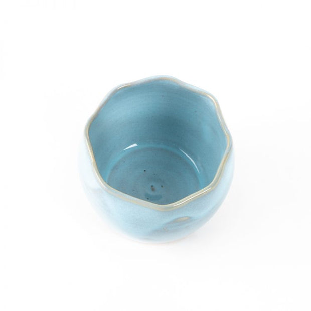 Trade Aid Small Blue Stoneware Planter 27.08.32