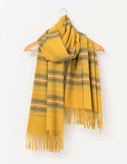 Stella and Gemma Winter Stripe Scarf Mustard 1607