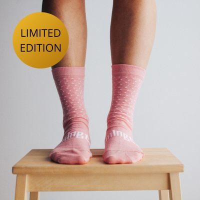 Lamington Women's Crew Socks Raspberry Lamington