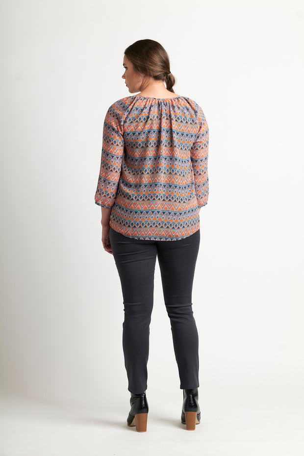 Memo Peasant Blouse in Aztec TP9357