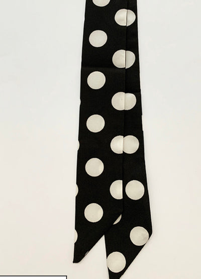 Stella and Gemma Black/White Polka Dots Scarf/Tie 7238