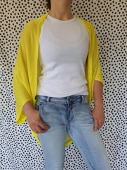 Hello Friday Flo Cardi in Acid Yellow 260