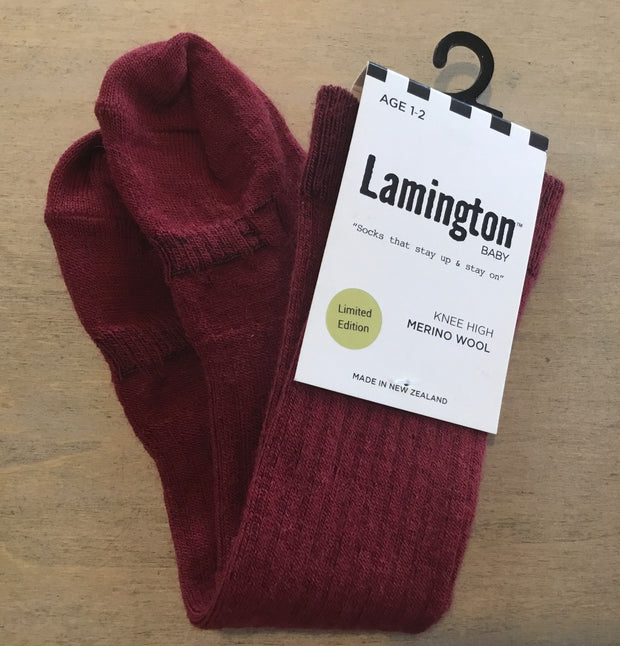 Lamington Children's  Knee High Socks Rib Plum