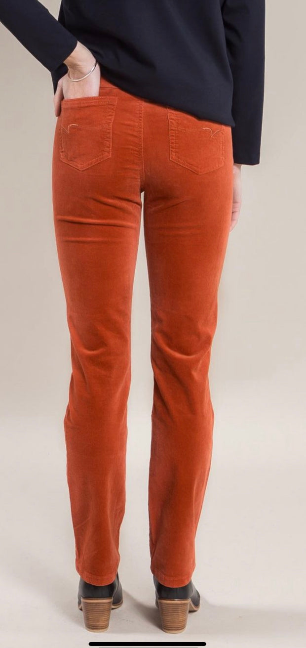 Vassalli 234M Auburn Slim Leg Full Length Cord Pull On