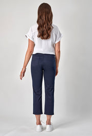 Vassalli Slim Leg 7/8 Length Lightweight Pull On Pant in Navy 274LW