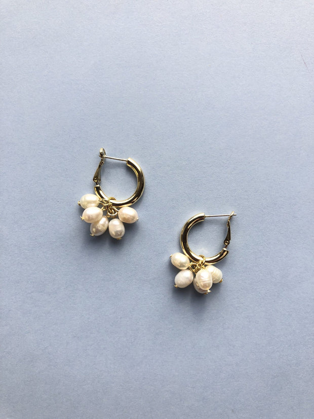 Some Pearl Droplets on Hoop Earrings 008
