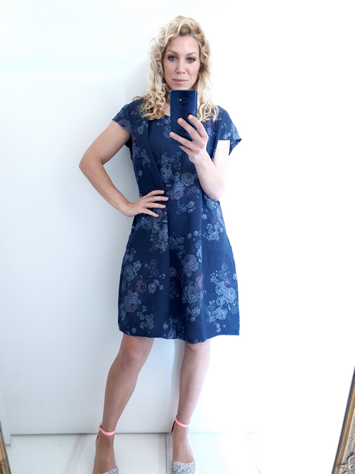Helga May Navy High Tea Kennedy Dress Large 100675