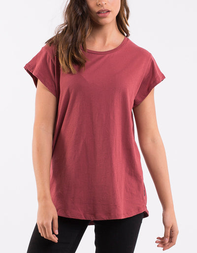 Silent Theory Lucy Tee in Burgundy