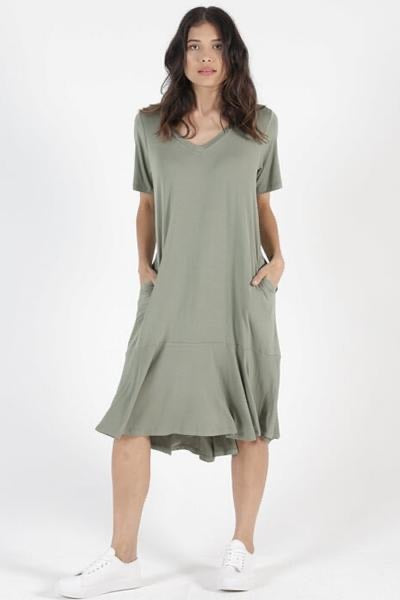 Betty Basics Camden Dress in Avocado 575