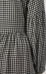Thing Thing Wrapped Up Dress Black Gingham -TTW8221