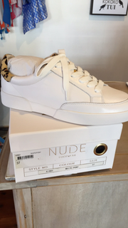 Nude Kirby Leather Sneaker White/Pony