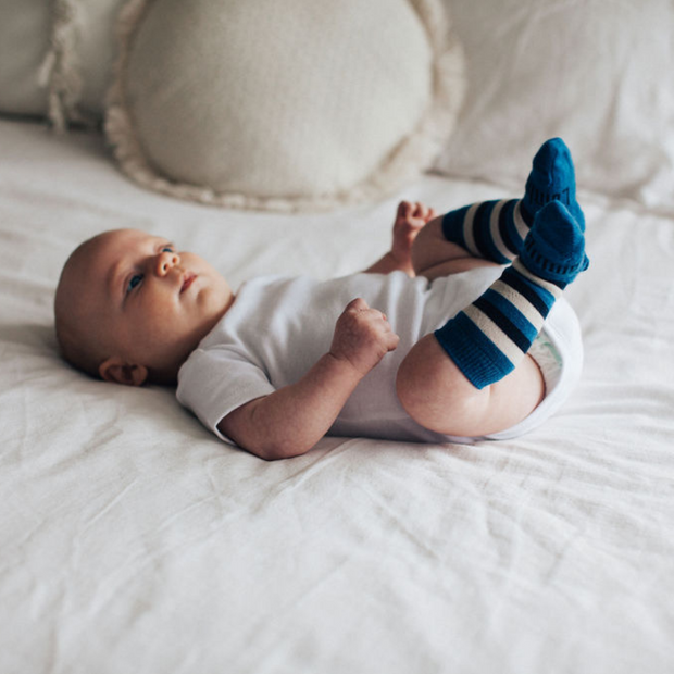 Lamington Merino Wool Knee High Socks Baby and Child  Marine