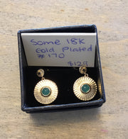 Some 18k gold plated Louvre Earrings 170