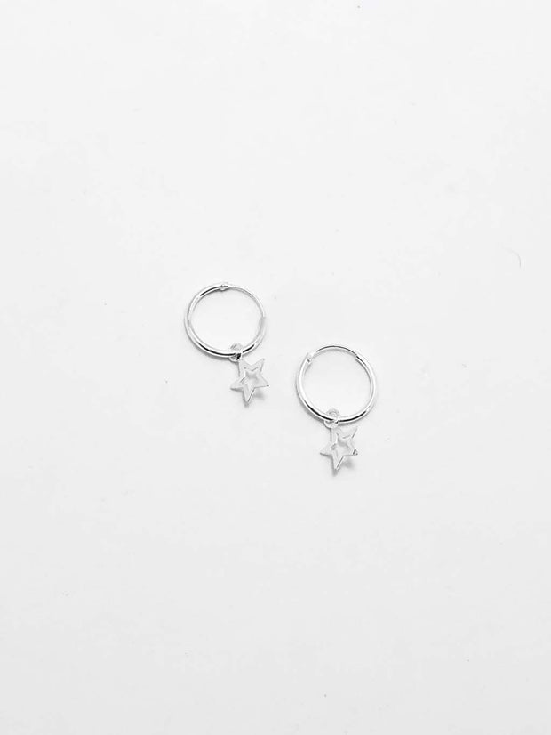Some Sterling Silver Star Charm Earrings 140