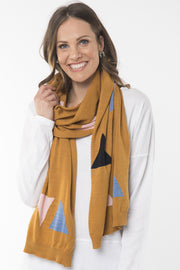 Elm Triangle Scarf in Gold
