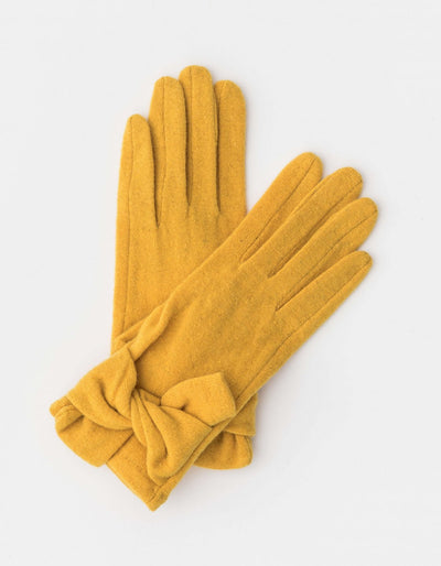 Stella and Gemma Wool Gloves Mustard 7134