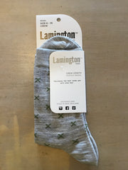 Lamington Merino Wool Crew Socks Mens Basil