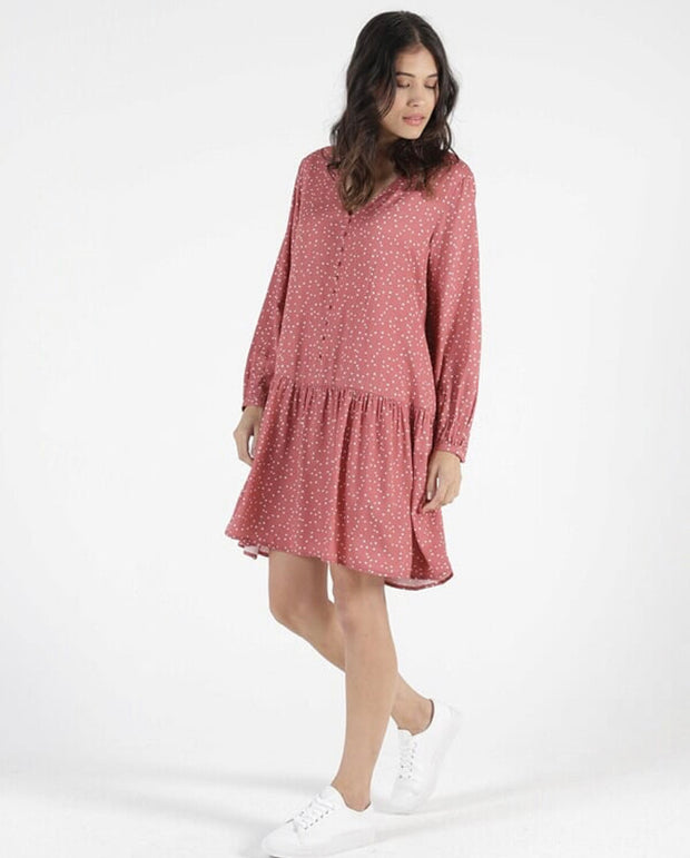 Betty Basics Rory Dress in Ditsy Heart