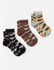 Stella and Gemma Camo Socks Set of 3 7153