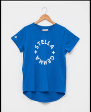 Stella and Gemma Cobalt with White Round Logo Tee 3033