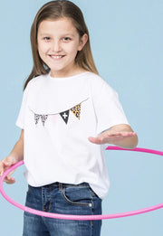 Stella and Gemma Eden Children's Tee White Garland 9008