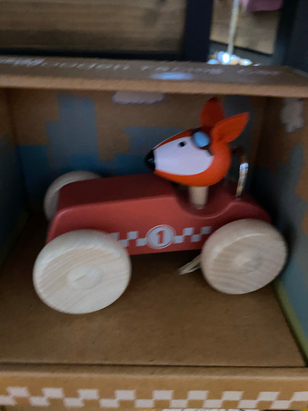 Wooden Fox Racing Car