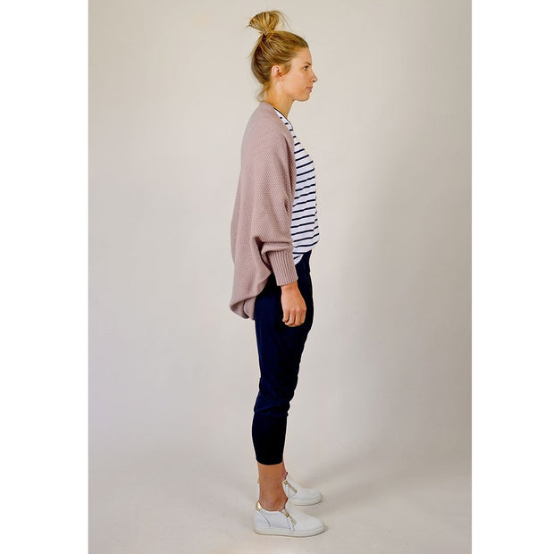 Hello Friday The Allrounder Cardi in Mauve HF164