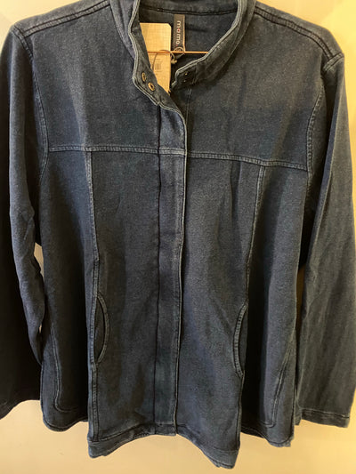 Memo Zip Front Jacket in Indigo Dye TP11809