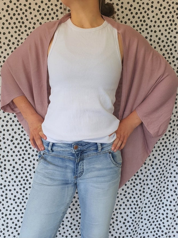 Hello Friday Flo Cardi Mauve 251